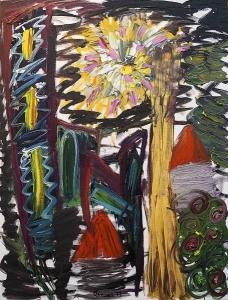 Study of a lamp WEB (oil on canvas, 36x48in, 2017), Étude d'une lampe (huile sur toile, 91.4x121.9cm, 2017)